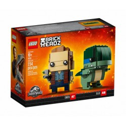 LEGO BRICKHEADZ JURASSIC WORLD 41614 OWEN I BLUE