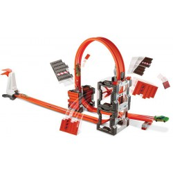 DWW96 HOT WHEELS TRACK BUILDER SZALONE KRAKSY TORY